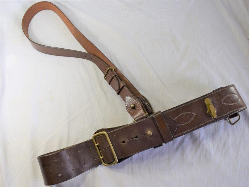 Original WW1 WW2 British Army Officers Leather Sam Brown