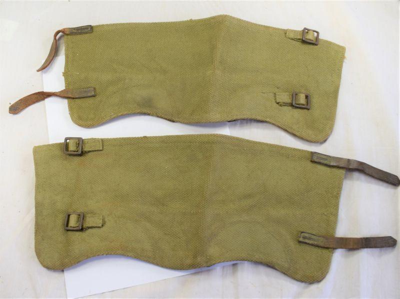 WW2 British Army 37 Pattern Webbing Anklets Size 3