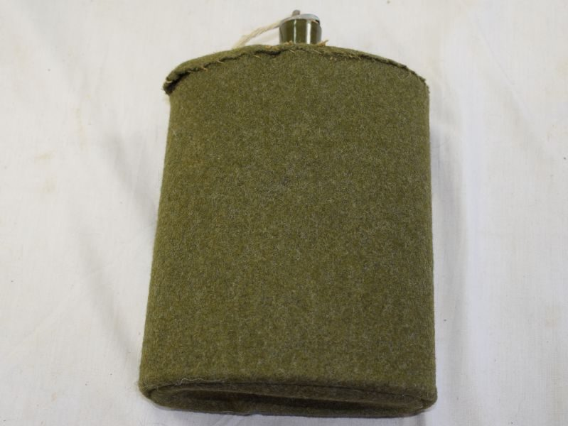 Original WW2 British Army Issue Felt Covered Enameled Water Bottle.
