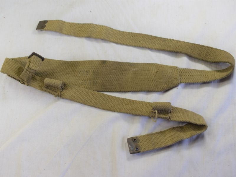 WW2 British Field Telephone Carry Strap with Earth Spike Fitting YA 1532