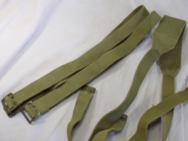 WW2 British 37 Pattern Webbing Braces & Straps all Named to