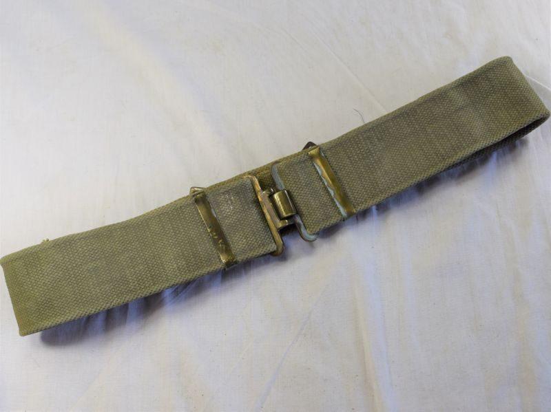 80) WW2 British Army 37 Pattern Webbing Waist Belt