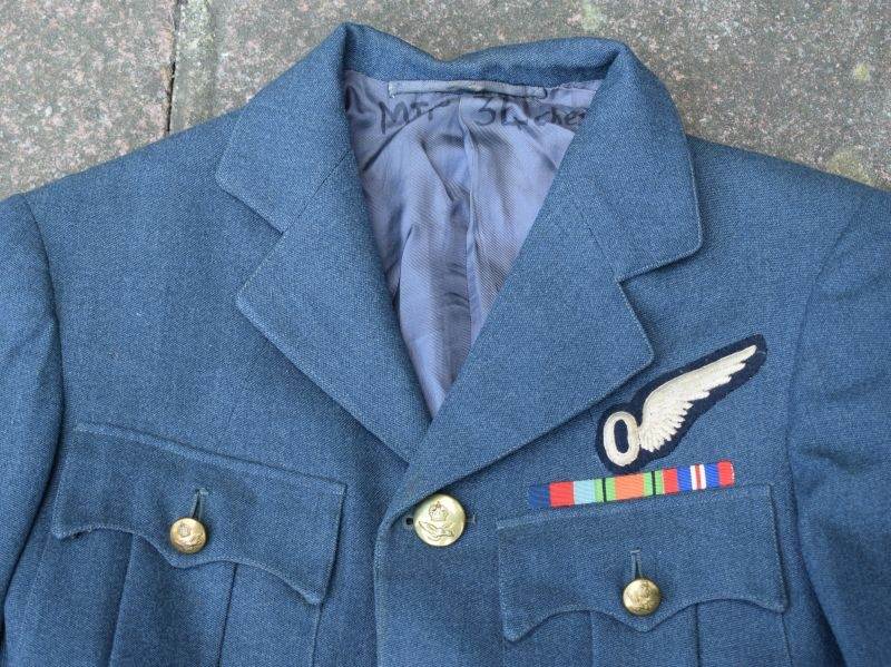 2) Very Nice Original WW2 RAF Flight Lt Observers Service Dress Tunic