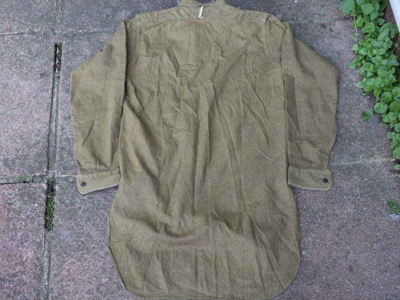 4) Excellent Original WW2 British Army Overhead Collarless Shirt