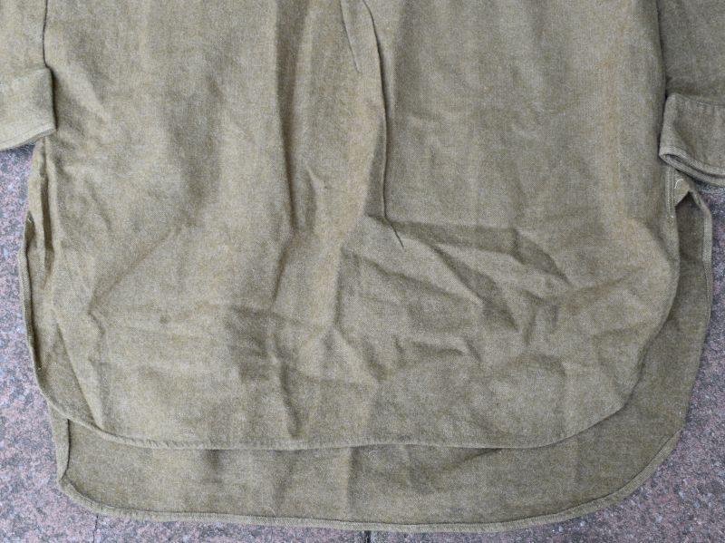 5) Original WW2 British Army Overhead Collarless Shirt