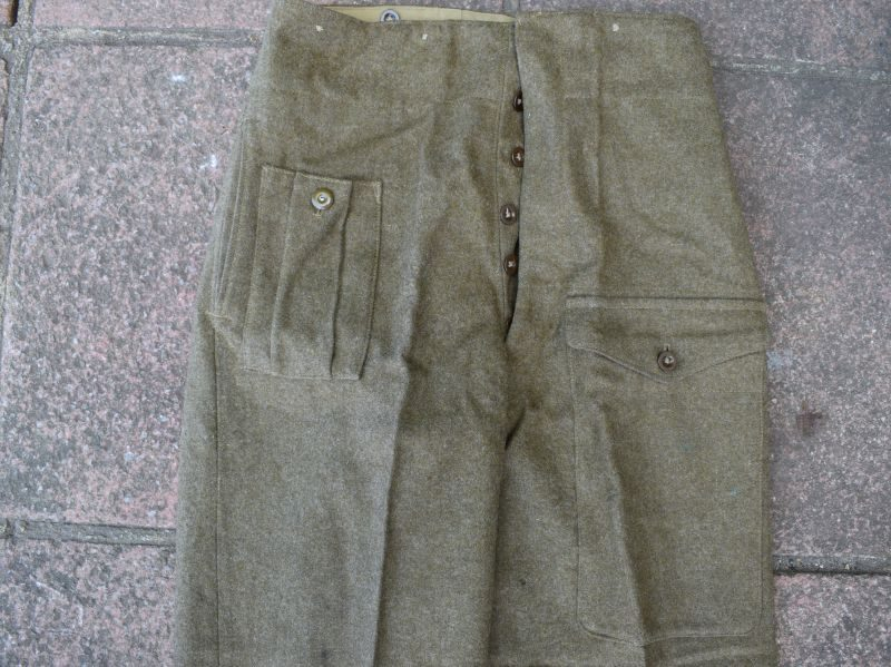 6) Good Original WW2 British Army 40 Pat Battledress Trousers 1942