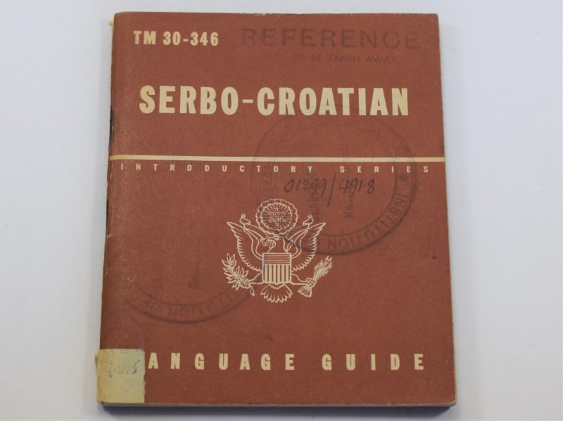 51) Original WW2 US Military Serbo-Croatian Language Guide 1943