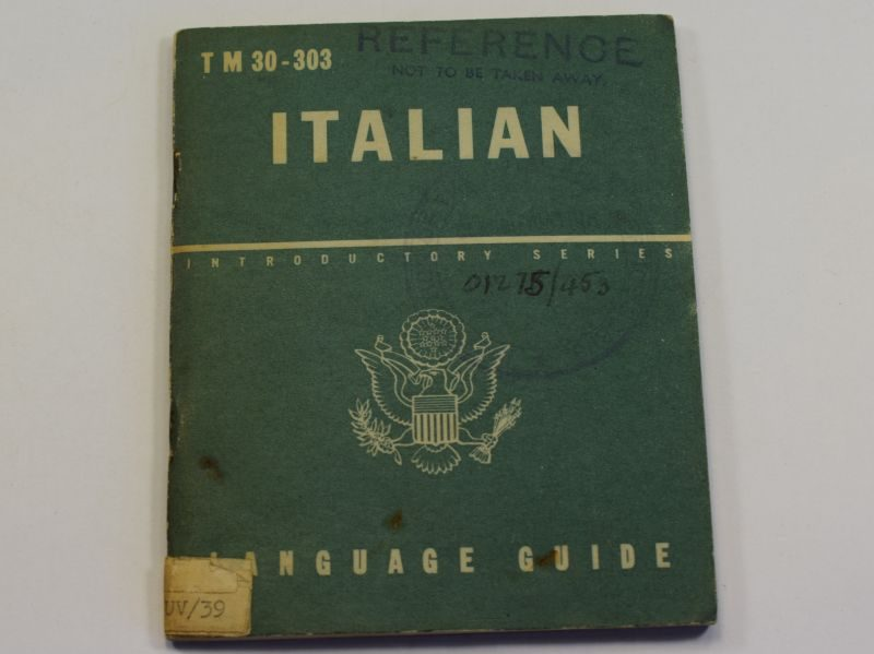 53) Original WW2 US Military Italian Language Guide 1943