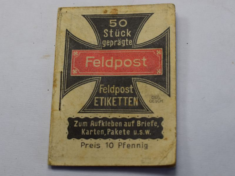 24) Original WW1 German Military Booklet of Feldpost Stickers For Letters