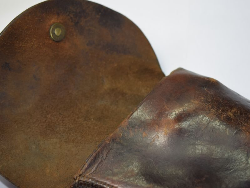 33) Original Boer War WW1 British Officers Leather Holster for .455 Revolver