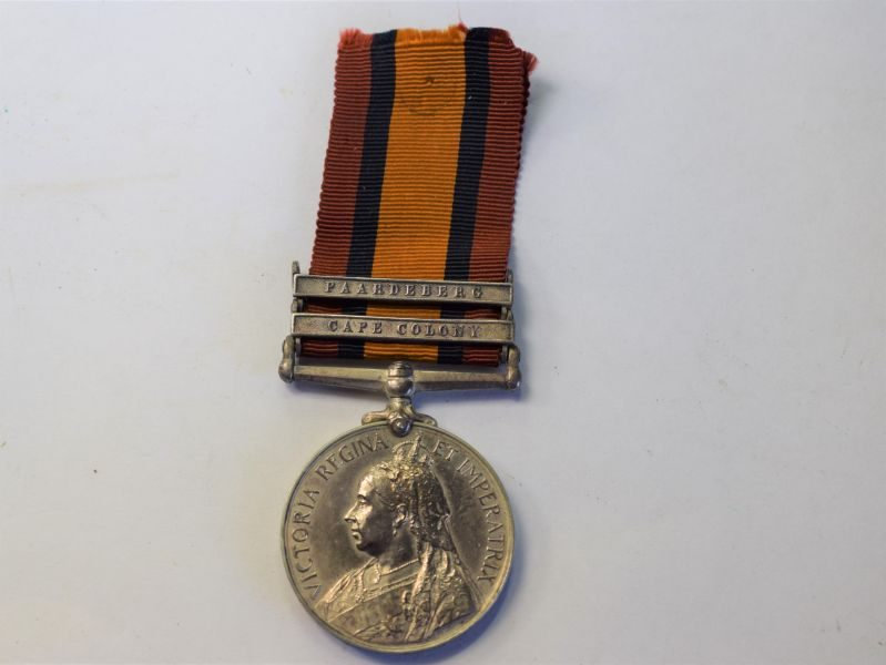 Original Boer War QSA Medal with 2 Bars to 3238 Pte T.Gould 2nd Hampshire Regt