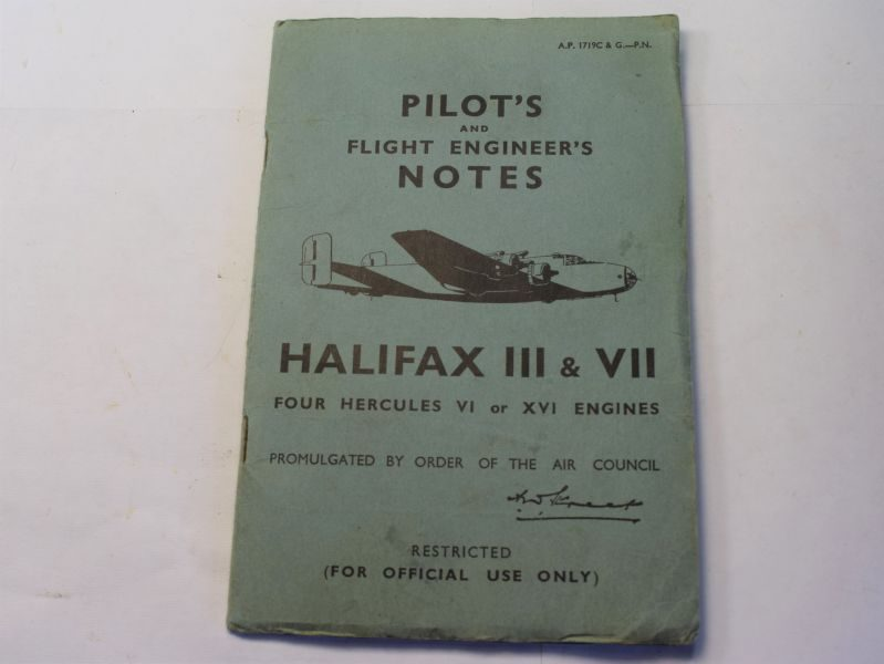 54) Original Pilots & Flight Engineers Notes Halifax III & VII 1944