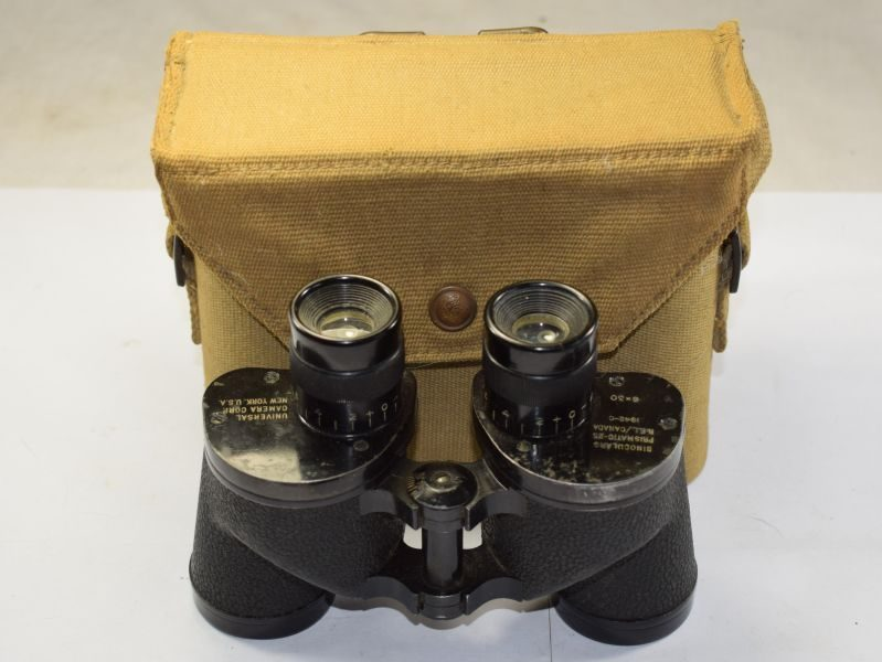 56) Nice WW2 US/Canadian Made 6X30 Binoculars and 37 Pat Case 1942
