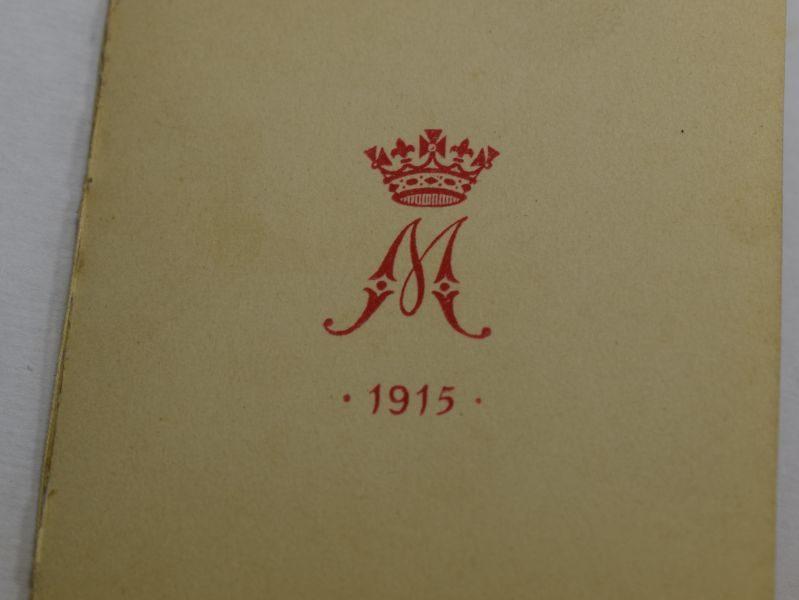 2) Excellent Original WW1 Princess Mary Tin New Year Card 1915