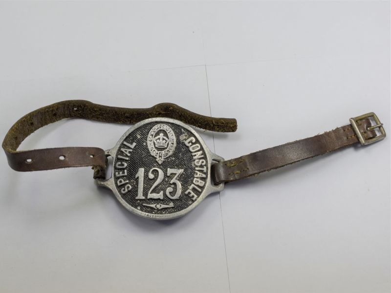 11) Original WW1 Era Isle of White Constabulary Special Constable Arm Badge