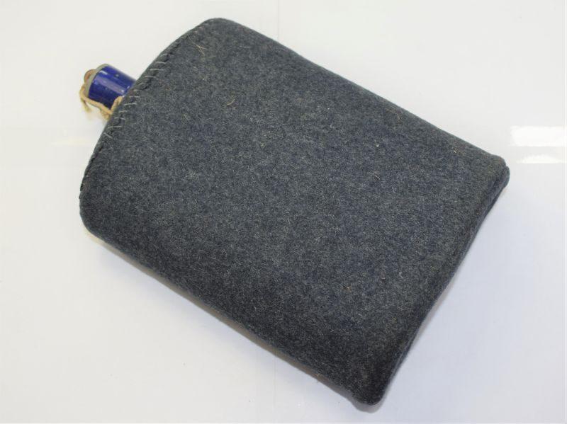 WW2 RAF Issue Blue Blanket Covered Enamel Water Bottle