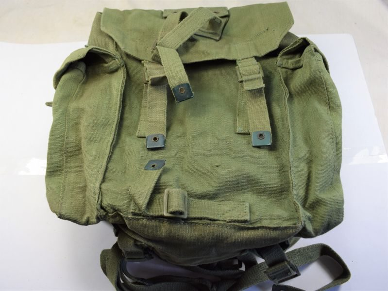 64) Nice Clean British Army 1944 Pattern Webbing Small Pack Dated 1956