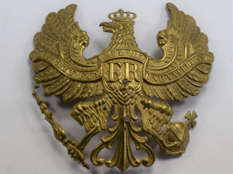 17) Original WW2 German Officers? Pickelhaube Eagle Badge