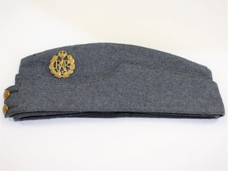 18) Good Size WW2 RAF Issue Field Service Cap 1942