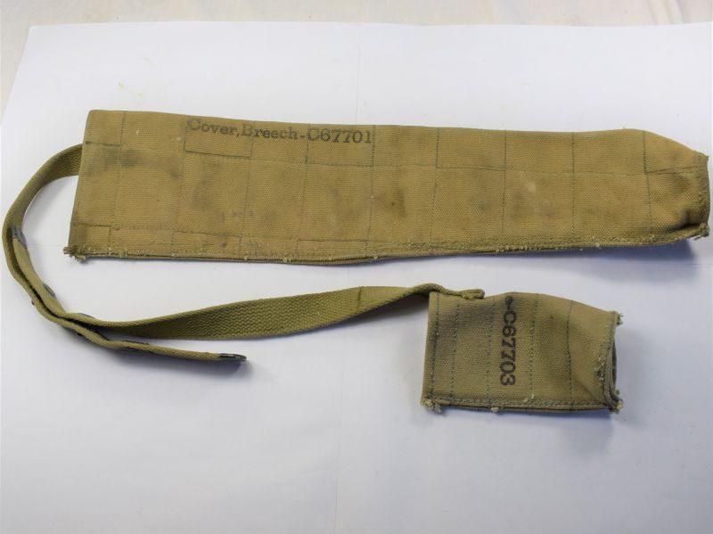 Original WW2 US Army 50 Cal MG Muzzle & Barrel Covers