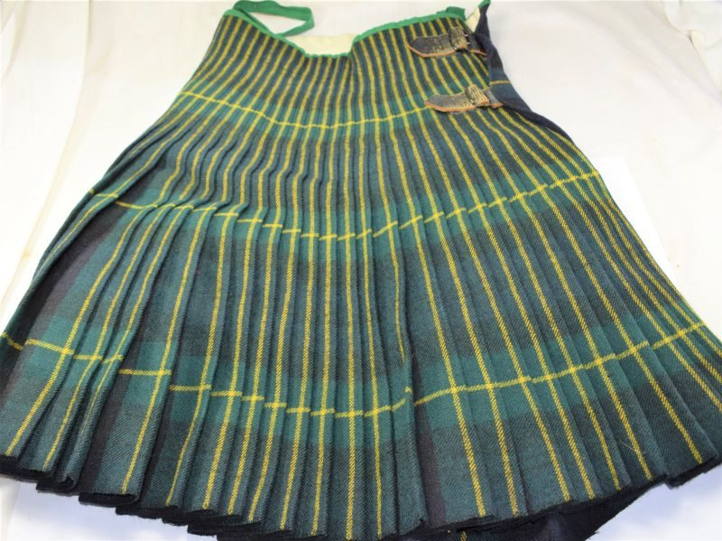 23) Good Original Post WW2 Gordon Highlanders Kilt No3 OR