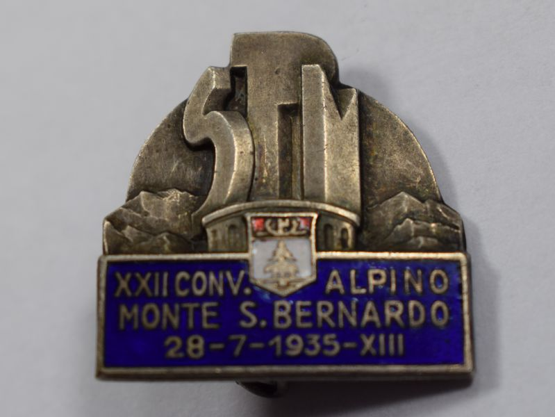 A25) Unidentified WW2 Italian Enameled High-Quality Badge