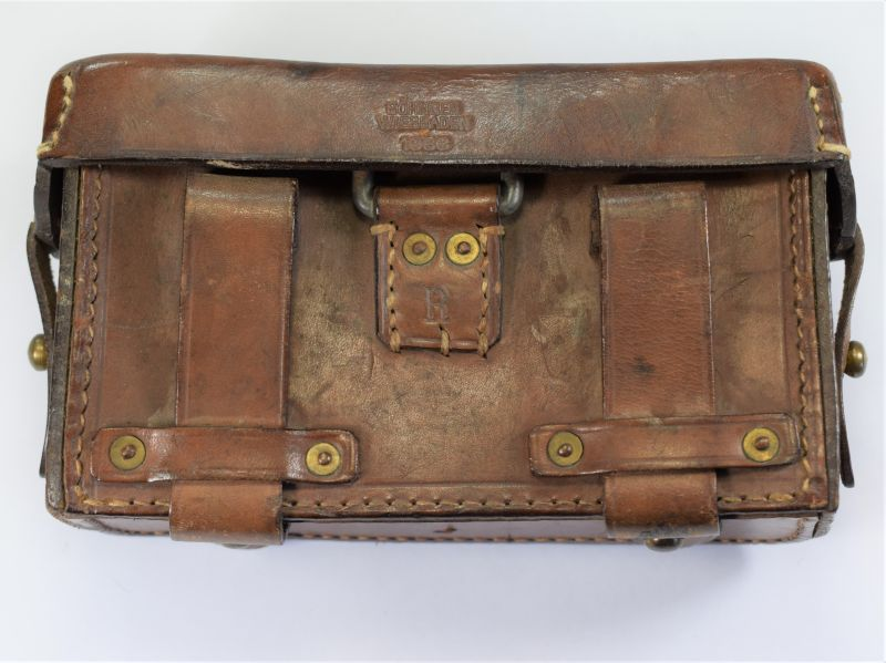 Original Early WW2 German Army Leather First Aid Pouch Dated 1933