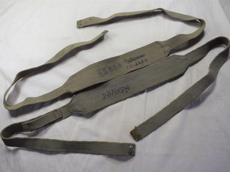 A26) Good original WW2 RAF Issue Right & Left Webbing Braces