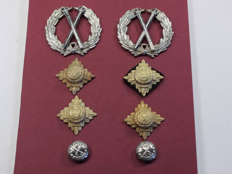 3) Post WW2 British Police Officers Metal Rank Insignia Set