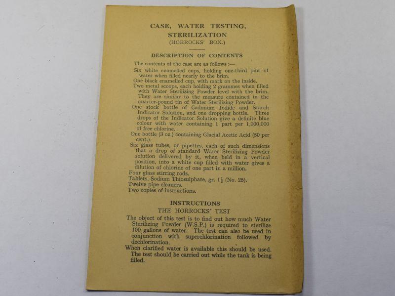 5) Original WW2 British Military Booklet For The Horrocks Box