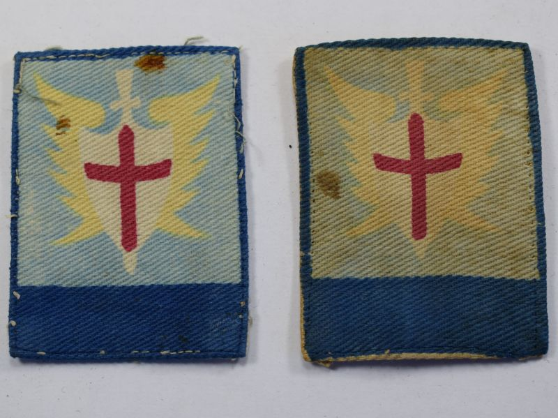 9) Original WW2 Allied Land Forces South East Asia Cloth Insignia pair