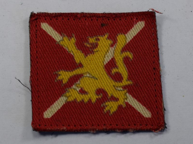 10) Original WW2 British Army West Scotland District Cloth Badge