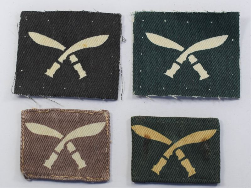 17) 4 Original WW2 British Army Gurkha Regiments Cloth Badges