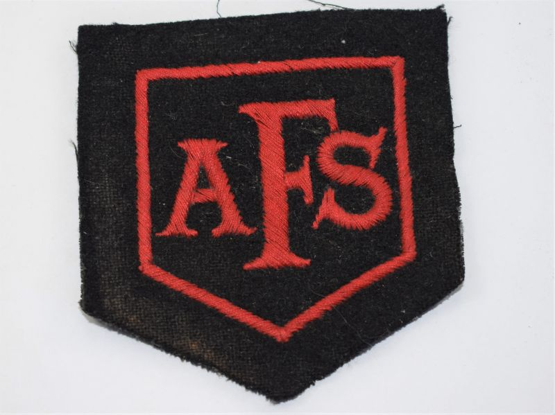 18) Original Large Early WW2 AFS Fire Mans Breast Badge