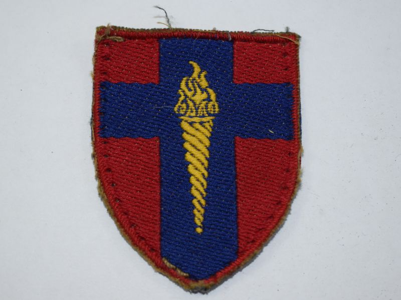 19) Original Post WW2 BAOR Training Centre Cloth Badge