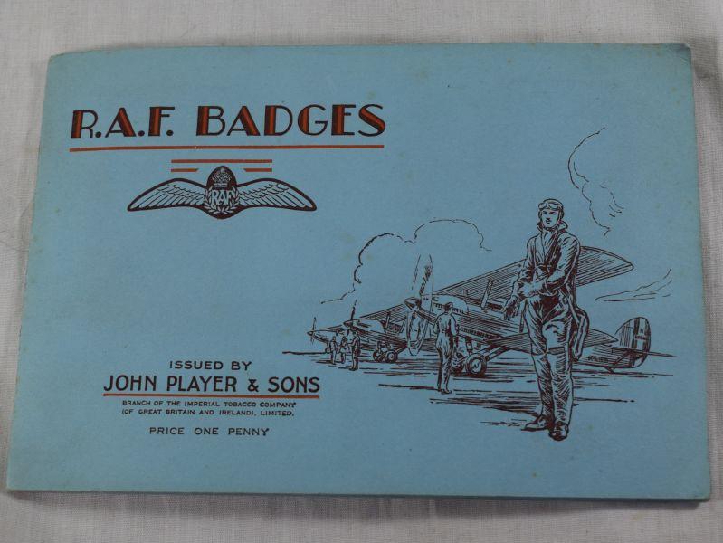 A20) Original 1930s John Player & Sons Cigarette Cards & Album RAF Badges