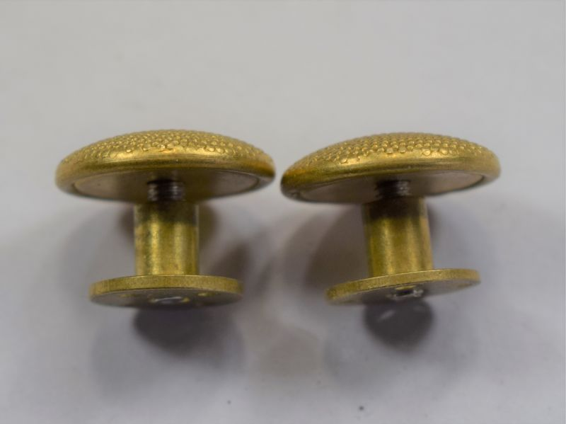 28) WW2 ? German Officers Gold Epaulette Buttons & Screw Posts