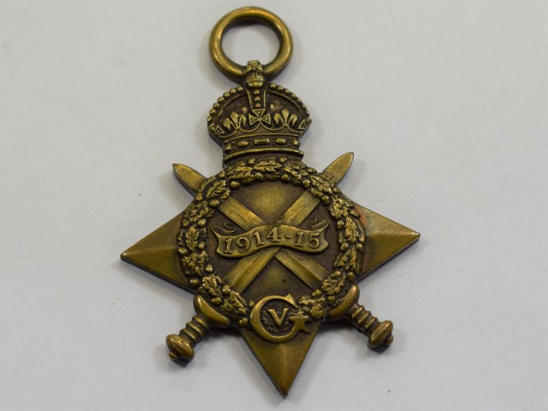 30) Original WW1 British 1914-15 Star 18579 L.Cpl G.Forth. Border Regt
