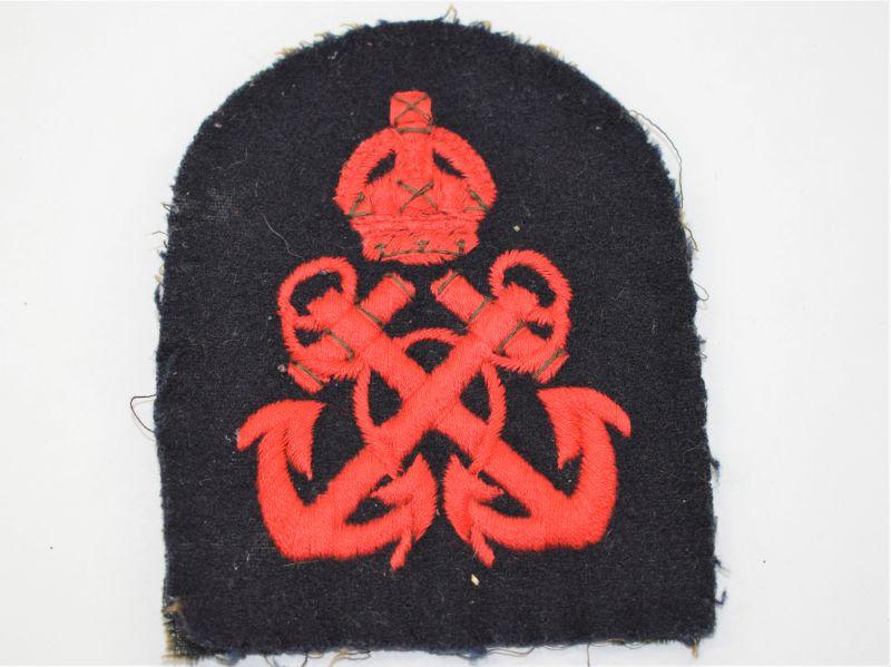 37) Original WW2 Royal Navy Petty Officers Rank Badge
