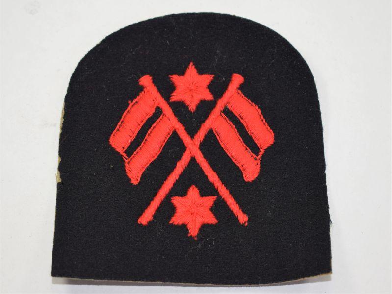 40) WW2 Royal Navy Leading Signalman Trade Badge