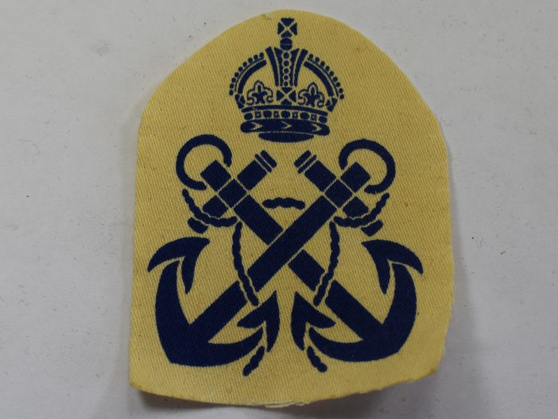 43) WW2 Royal Navy Ratings Trade Badge Printed on White Backing