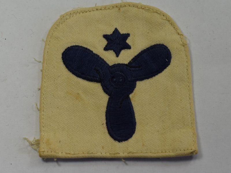 45) WW2 Royal Navy Engineering Mechanic Trade Badge on White Backing