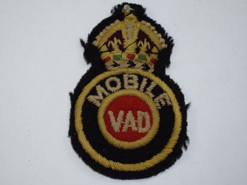 S) Original WW1 WW2 Mobile VAD Sew on Breast Badge