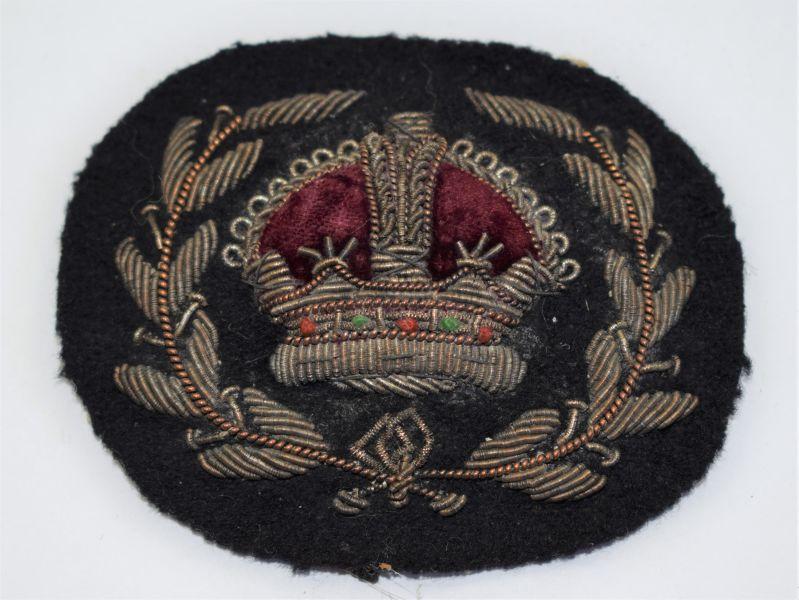 T) Original WW1 WW2 WO2 Sleeve Badge on Black Backing