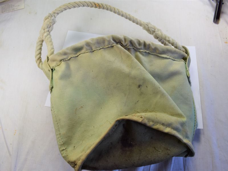 WW2 British Army Issue Canvas Water Bucket Dated 1944