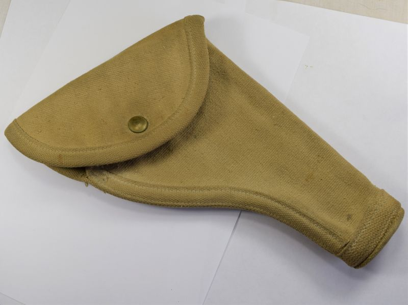 A2) Original WW2 Canadian Made Pistol Holster MS&U Ltd 1943