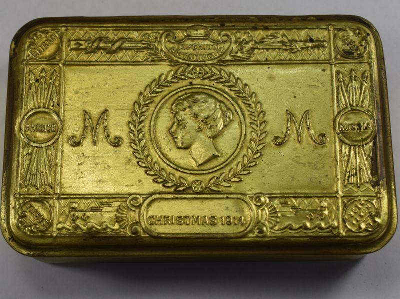 61) Nice Original WW1 Princess Mary Christmas 1914 Gift Fund Tin