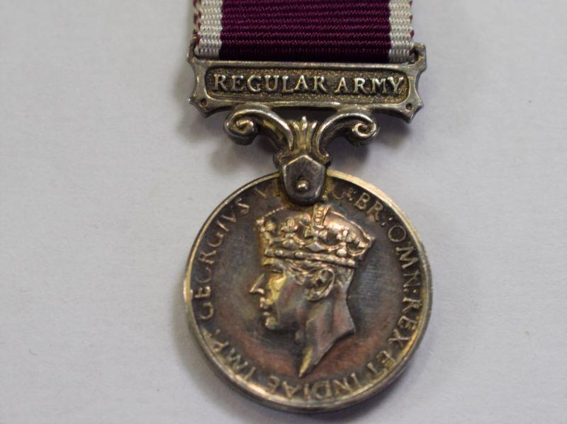 67) Original GRVI Regular Army Long Service Good Conduct Miniature Medal