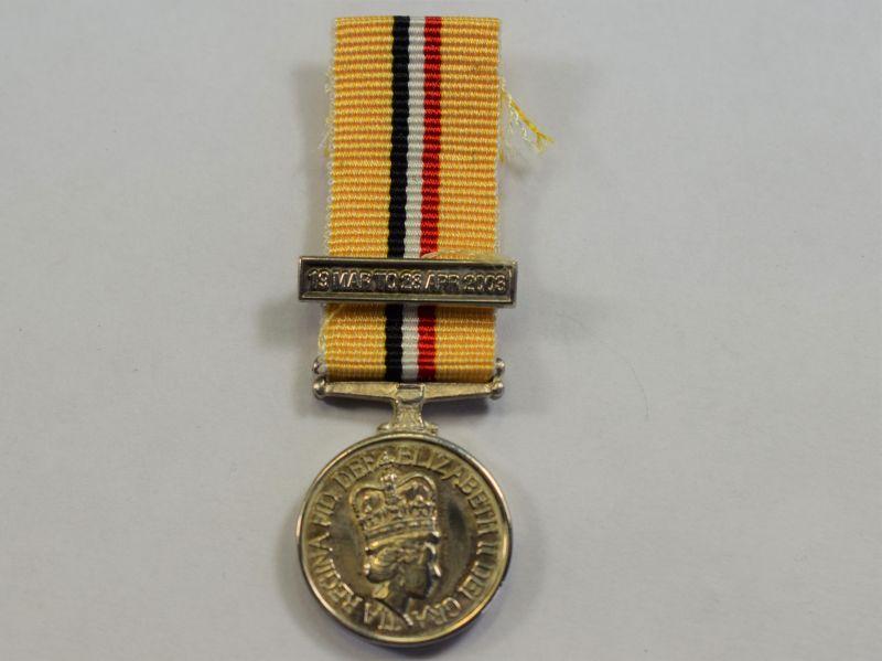 77) Original Miniature Iraq War Medal 2003
