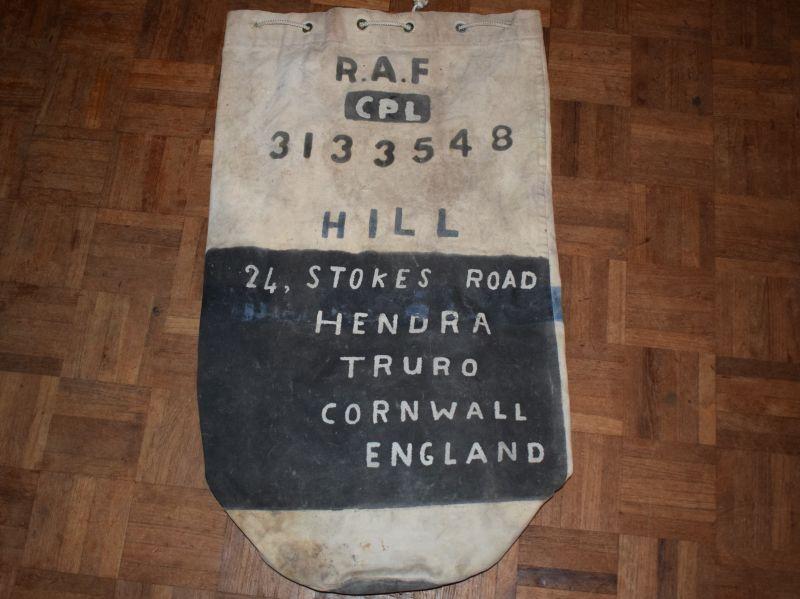 WW2 Era RAF Airmans Kit Bag 3133548 Cpl Hill RAF